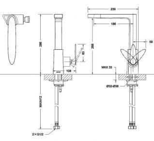 Смеситель Bravat Spring F779113C для кухонной мойки