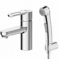 Смеситель Bravat Stream F137163C-1 для раковины с гигиеническим душем