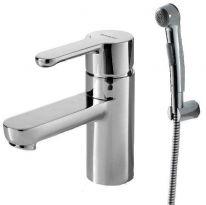 Смеситель Bravat Stream F13783C-3 для раковины с гигиеническим душем