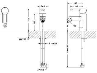 Смеситель Bravat Stream F33783C для биде
