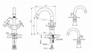 Смеситель Bravat Summer Rain F177111C-1 для раковины