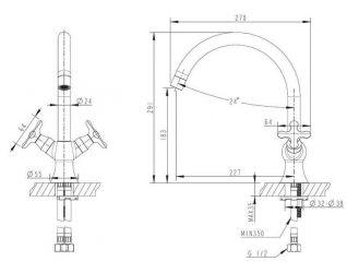 Смеситель Bravat Summer Rain F777111C для кухонной мойки