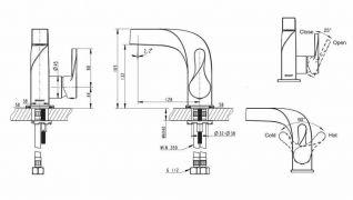 Смеситель Bravat Wave F174108C для раковины