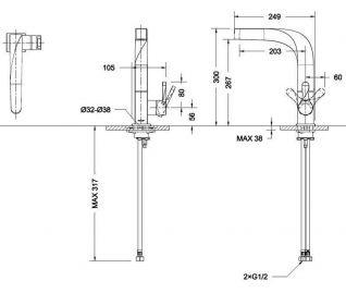 Смеситель Bravat Wave F774108C для кухонной мойки