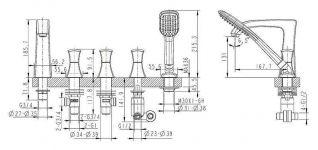 Смеситель Bravat Whirlpool F578112C-RUS для ванны