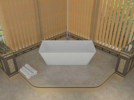 Ванна мраморная ALPEN Novara 169*80