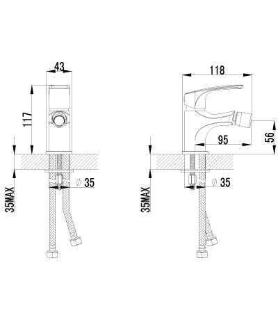 Смеситель Lemark plus Shape LM1708C для биде