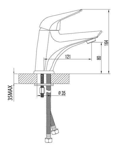 Смеситель Lemark Poseidon LM4206C для умывальника