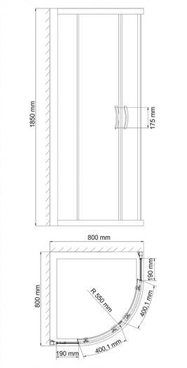 Душевой уголок WasserKRAFT Isen 26S00 80*80*185 см