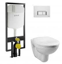 Инсталляция VitrA Normus 9773B003-7200 кнопка хром с сиденьем SoftClose