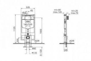 Комплект VitrA S50 9003b003-7200 4 в 1 с микролифтом
