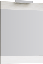 Зеркало с подсветкой Aqwella Бриг Л7/Gray Br.02.07/Gray дуб седой