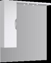 Зеркальный шкаф Aqwella Эколайн 100 Eco-L.02.10 с подсветкой белое