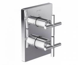 Смеситель термостатический Jacob Delafon Classic E75395-CP, для ванны и душа, внешняя часть