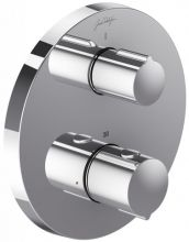 Смеситель термостатический Jacob Delafon Round E75386-CP, для ванны и душа, внешняя часть