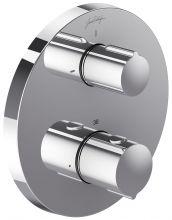 Смеситель термостатический Jacob Delafon Round E75390-CP, для ванны и душа, внешняя часть