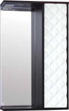 Зеркальный шкаф Style Line Агат 50/С белый/венге