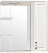 Зеркальный шкаф Style Line Олеандр-2 75/С Люкс, рельеф пастель