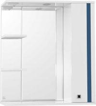 Зеркальный шкаф Style Line Флокс 75/С синее стекло