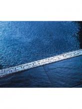 Решетка TECE «LINES» арт. 600820, из нержавеющей стали, прямая, длина 800 мм, полированная