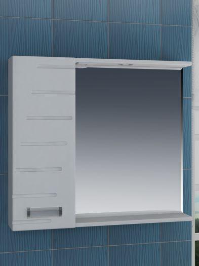 Зеркало-шкаф Vigo Diana 80 с подсветкой, шкаф слева