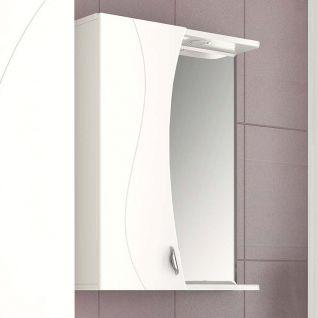 Зеркало-шкаф Vigo Faina 55 с подсветкой, шкаф слева