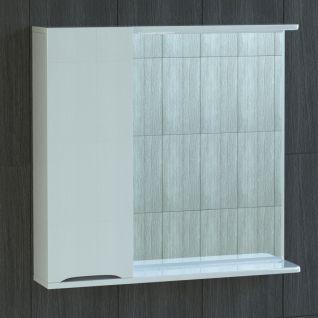 Зеркало-шкаф Vigo Minor 75 с подсветкой, шкаф слева