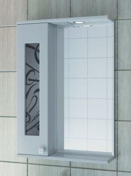 Зеркало-шкаф Vigo Provans 55 с подсветкой, шкаф слева