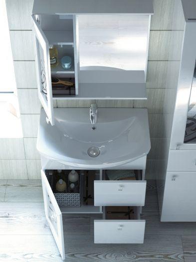Зеркало-шкаф Vigo Provans 70 с подсветкой, шкаф слева