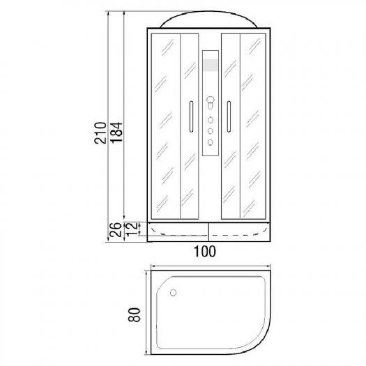 Душевая кабина RiverDesna 100/26 МТ R
