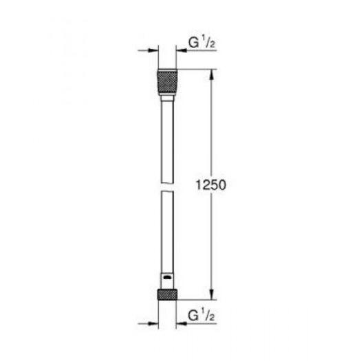 Гигиенический набор Grohe BauLoop 124895, ручной душ хром