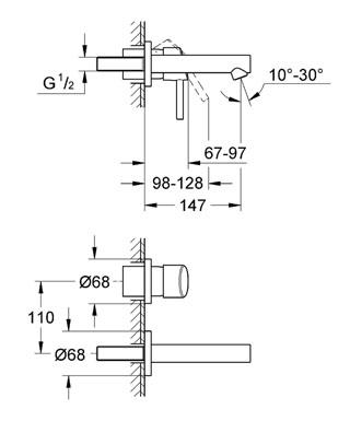 Смеситель Grohe Concetto New 19575 001 для раковины, внешняя часть