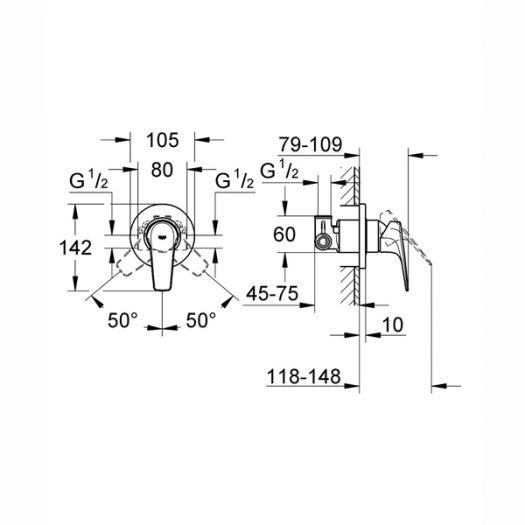 Гигиенический набор Grohe BauClassic 124902
