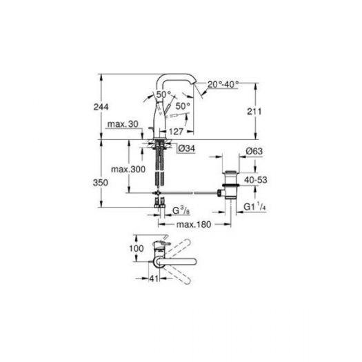 Смеситель для раковины Grohe Essence New 32628001 для раковины