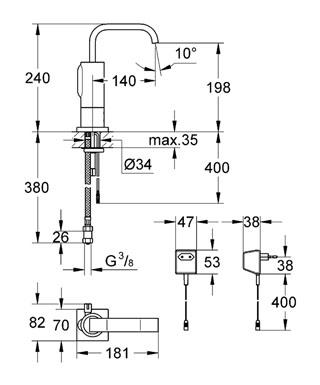 Смеситель Grohe Allure E 36095000 для раковины
