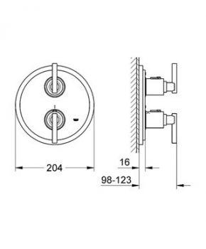 Смеситель термостатический Grohe Atrio 19398000 для душа