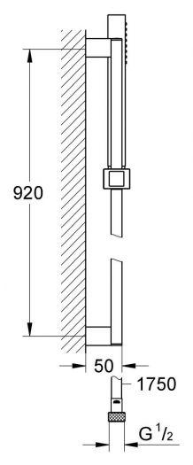 Душевой гарнитур Grohe Euphoria Cube 27890000