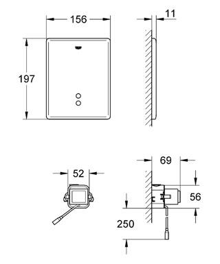 Кнопка смыва инфракрасная Grohe Dal Tectron Skate 38393SD0