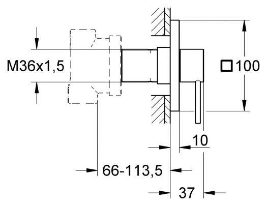 Внешняя часть Grohe Allure 19590000 запорно-переключающего устройства на пять потребителей