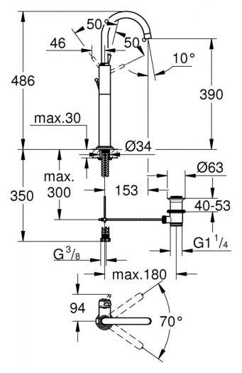 Смеситель Grohe Atrio С 32647001 для раковины
