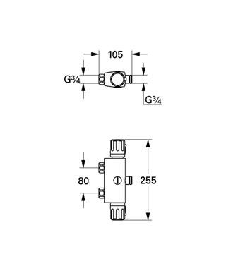 Термостат Grohe Automatic 2000 Compact 34364000