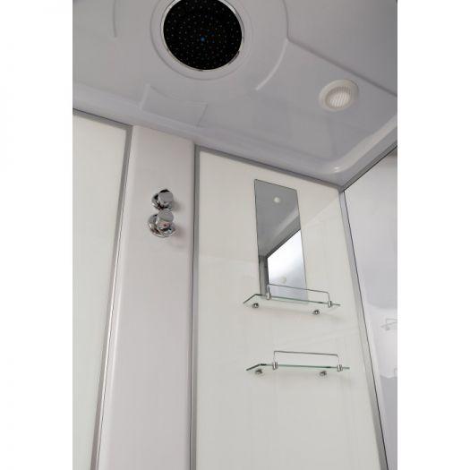 Душевая кабина Deto EM4515 с гидромассажем, высокий поддон
