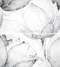 Каррарский Мрамор Панно цветы 1609-0019 45х50 (компл. из 2-х шт)