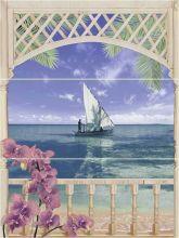 Панно Muza Bali 1(C-MU2H454DTA) 80х60 (лодка)
