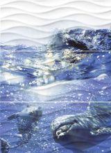 Панно Wave Dolphins (WA2T123D) 600x440