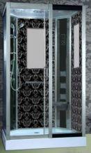 Душевая кабина Niagara Lux NG-7711BR, 120x90x215 см с гидромассажем, стенки черные, правая