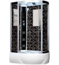 Душевая кабина Niagara Lux NG-7712BL, 120x80x215 см с гидромассажем, стенки черные, левая