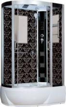 Душевая кабина Niagara Lux NG-7712BR, 120x80x215 см с гидромассажем, стенки черные, правая