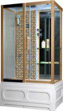 Душевая кабина Niagara Lux NG-7716GL, 120x82x215 см с гидромассажем, стенки золото, левая