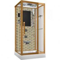 Душевая кабина Niagara Lux NG-7718G, 90x90x215 см с гидромассажем, стенки золото
